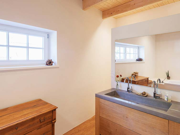 Aufstockung aus Holz, Ahrensburg, Badezimmer