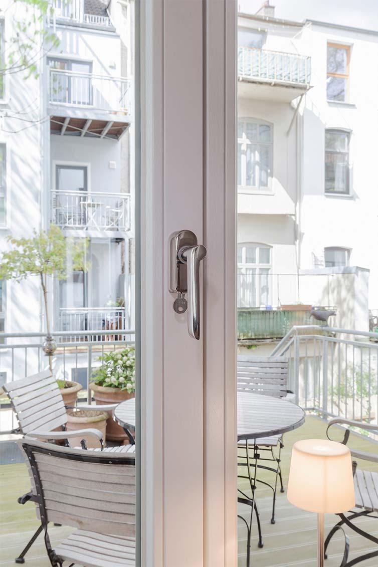 Balkontür und Terrassenbereich, Bremen Ostertor