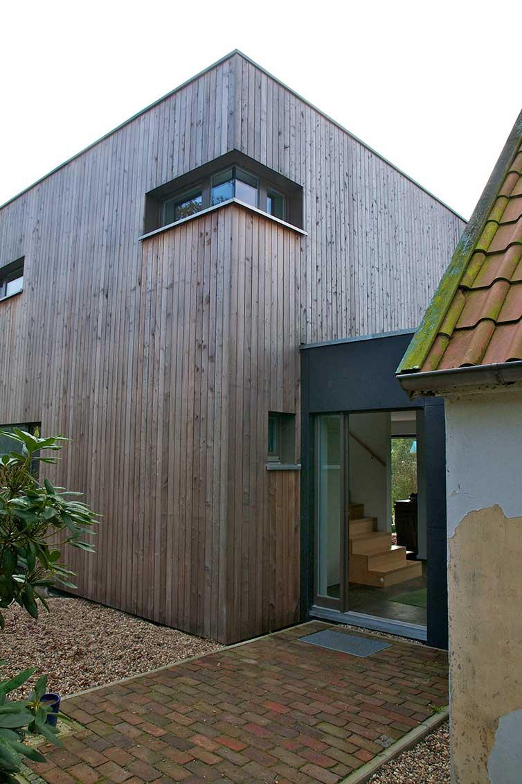 Hausanbau aus Holz, Varel, Verbindung zum Haupthaus