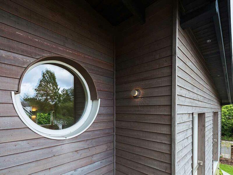 Hausaufstockung Bremen, Pultdachgeschoss mit Rundfenster