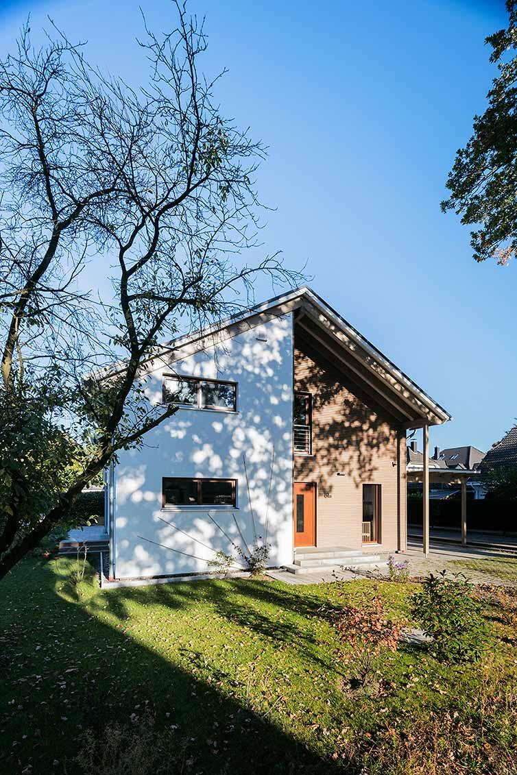 Holzhaus Bremen, Außenansicht