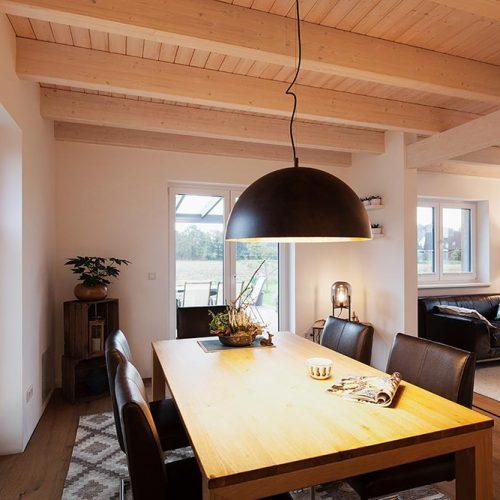 Holzhaus Scheeßel, Wohn- und Esszimmer