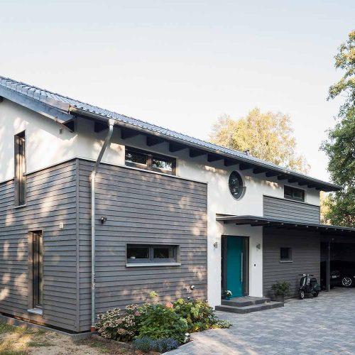 Ökologisches Holzhaus Grasberg, Frontansicht