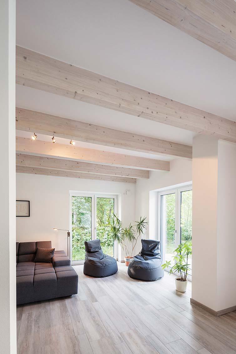 Ökologisches Holzhaus Grasberg, Wohnzimmer