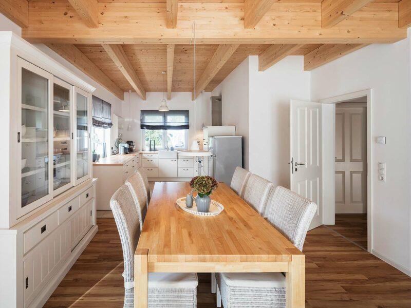 Schwedenhaus Quelkhorn, Wohn-und Essbereich mit Küche