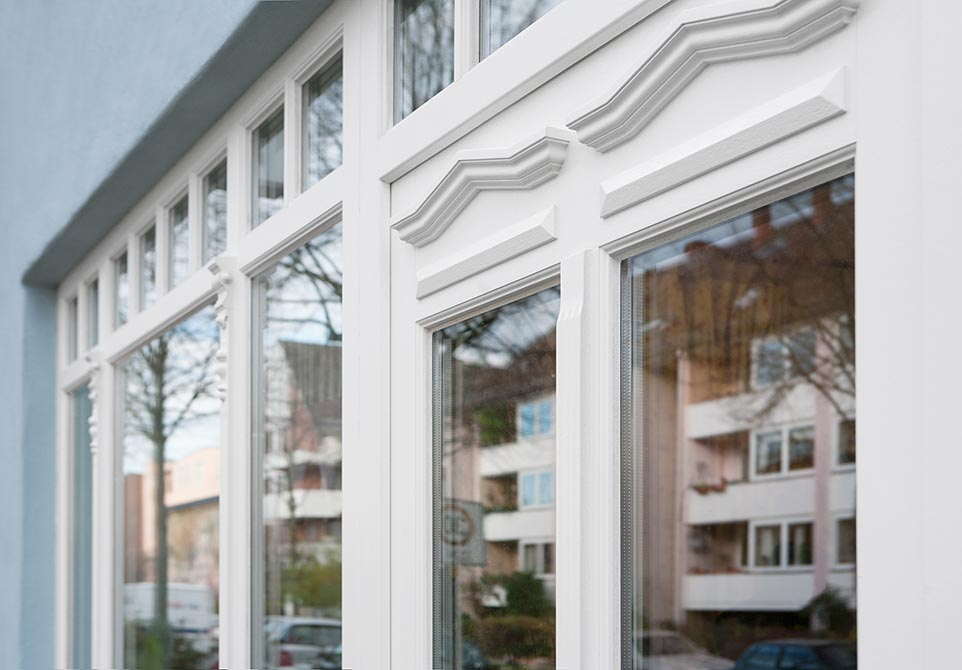 Verzierte Altbaufenster